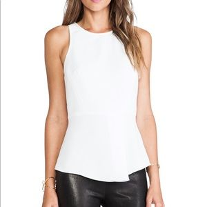 Tibi Racerback Draped Top in Ivory NWT Size 8